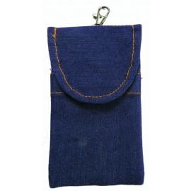 Jeansový stylový obal-fialový